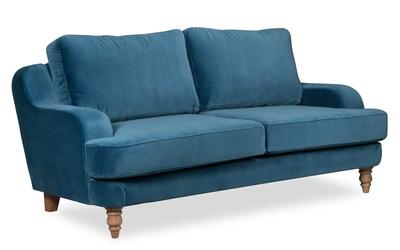 Sofa mirar  welurowa 2-osobowa deluxe - welur łatwozmywalny charcoal