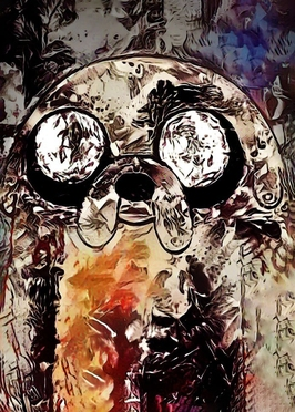 Legends of bedlam - jake, adventure time - plakat wymiar do wyboru: 20x30 cm