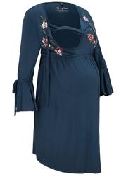Sukienka ciążowa i do karmienia bonprix ciemnoniebieski