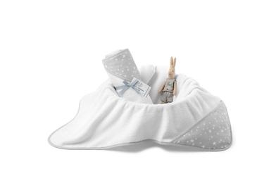 Colorstories - ręcznik bawełniany z kapturem 90×90 cm milkyway grey m