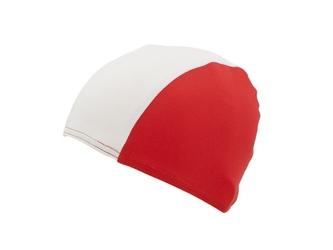 Czepek lycra biało-czerwony