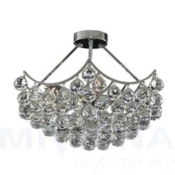 Sassari lampa wisząca 5 chrom kryształ krótka