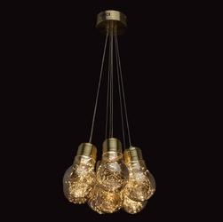 Duże żarówki - lampa wisząca led do salonu led regenbogen loft 663011707