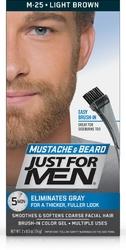 Just for men m-25 jasny brąz - odsiwiający żel do brody i wąsów
