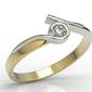 Pierścionek z żółtego i białego złota z brylantem 0,12 ct hsi model ap-3212zb