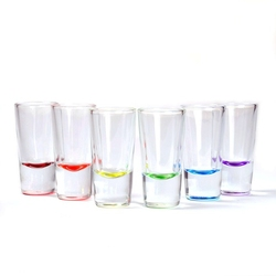 kieliszki do shotów 25 ml z kolorowym dnem 6 szt.