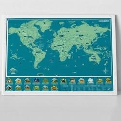 Mapa zdrapka zwierzęta