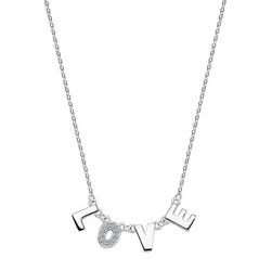 Staviori naszyjnik 47cm. cyrkonia. srebro 0,925.   fajny, modny naszyjnik z napisem love. znakomity na niezobowiązujący, miły prezent, który pozwoli nam przekazać, że nam na kimś zależy.
