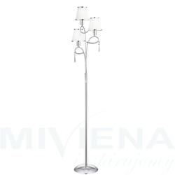 Simplicity lampa podłogowa 3 chrom kryształ abażur