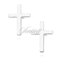 Srebrne kolczyki pr.925 krzyżyki