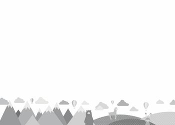 Tablica magnetyczna suchościeralna dla dzieci zwierzęta, góry 381