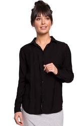 Czarna klasyczna koszula z pagonami