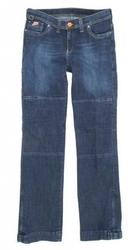 Spodnie 115 jeans lady blue damskie kolor niebieski- bez ochraniaczy