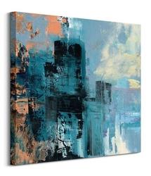 Misty city - obraz na płótnie