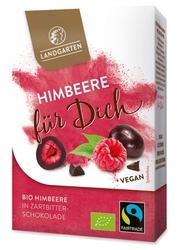 Landgarten | liofilizowane maliny w gorzkiej czekoladzie 90 g | gluten free - organic - fairtrade