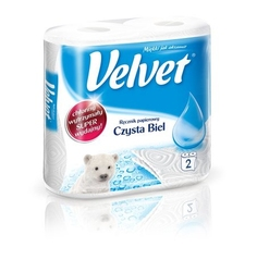 Velvet czysta biel, ręcznik kuchenny, 2 rolki