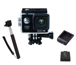 Kamera sportowa sjcam sj4000 fhd + bateria + ładowarka + monopad