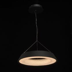 Lampa wisząca led w kształcie pierścienia, matowa czerń, teksturowane wnętrze 703010701