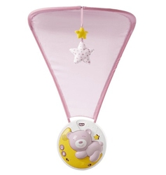 Chicco next2moon pink panel i projektor na łóżeczko