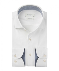 Męska biała koszula z fakturą twill 48