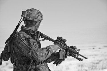 Fototapeta na ścianę żołnierz na misji fp 5504