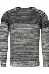 Dzianinowy męski sweter crsm - granatowy 9504-3