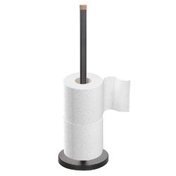 Stojak na papier toaletowy metalowy altom design czarny