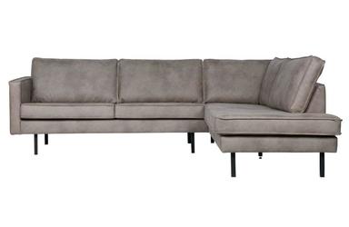Be pure :: sofa narożna  narożnik prawy tapicerowany rodeo szary