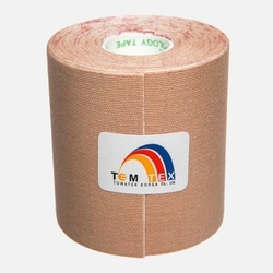 Temtex kinesiology tape 7,5cm x 5m beżowy