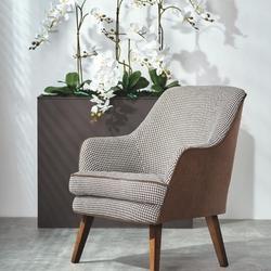 Fotel wypoczynkowy do salonu thrive białyczarny