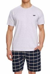 Atlantic nmp-313 szary melanż piżama męska