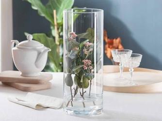 Wazon na kwiaty  świecznik szklany cylinder edwanex 40 cm