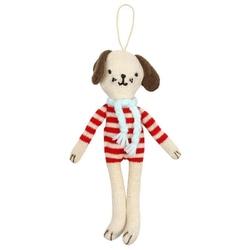 Zawieszka świąteczna - ozdoba choinkowa meri meri - pies w sweterku
