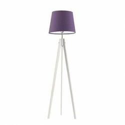 Lampa podłogowa aruba abażur fioletowy stelaż biały - fioletowy