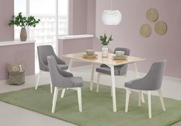 Wygodne krzesło na drewnianych nogach w kolorze białym toledo