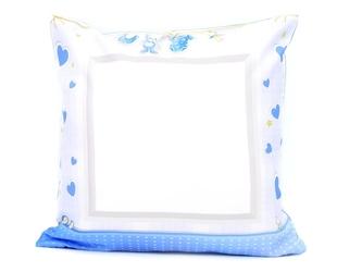 Poszewka na poduszkę jasiek maluch niebieski nadruk