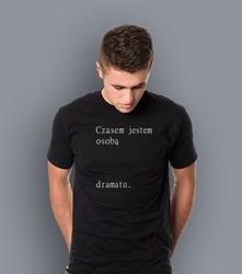Wyprzedaż - osoba dramatu męska l t-shirt męski czarny l