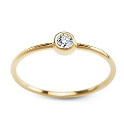 Staviori pierścionek. cyrkonia. żółte złoto 0,333. .