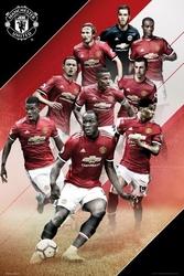 Manchester united zawodnicy 1718 - plakat