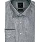 Elegancka jasnoszara koszula profuomo z klasycznym kołnierzykiem 39