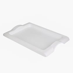 Taca do serwowania plastikowa prostokątna bentom familijna biała 51 cm