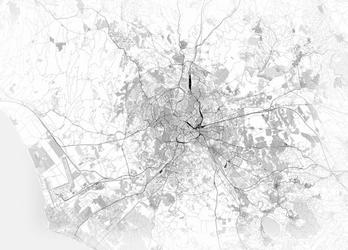 Rzym - mapa czarno biała - fototapeta