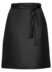 Spódnica z wiązanym paskiem bonprix czarny