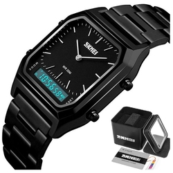 Zegarek męski skmei 1220 led bransoleta czarny