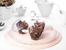 Patera  talerz szklany na ciasto i tort z kloszem huta jasło 32 cm opakowanie prezentowe
