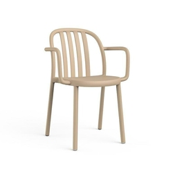 Krzesło sue lama z podłokietnikami piaskowy - piaskowy