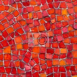Fototapeta czerwona mozaika