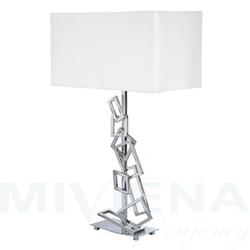 Malabar lampa stołowa 1 chrom abażur