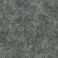 Obraz na płótnie canvas trzyczęściowy tryptyk Zardzewiały metaliczny wzór trójkąta