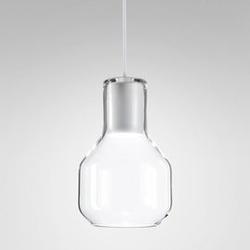 Aqform :: lampa wisząca modern biała transparentny klosz śr. 10,6 cm